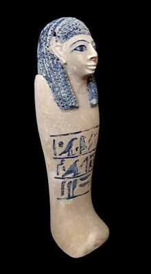 Giant Shabti Statue Egyptian antique Ushabti W/T Hieroglyphics Pharaoh Figurine