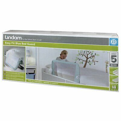 Lindam Easy fit Bed guard Blue, child safety net rail, BNIB