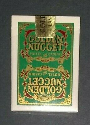 Retired GOLDEN NUGGET HOTEL and CASINO SEALED Playing Cards - Green TYPE 5 .