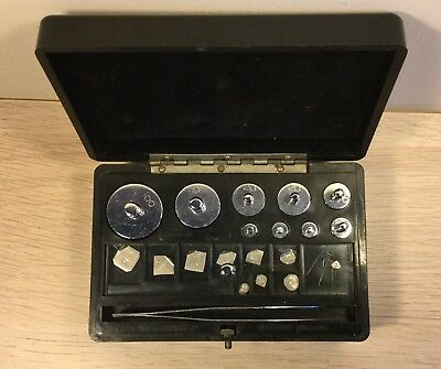 Vintage Apothecary Chemical Balance Weights by ETA Instruments Watford   (MJ386)