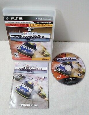Days of Thunder NASCAR Edition PlayStation 3 w/ Blu Ray Movie Very Good