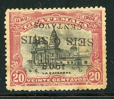 Guatemala Specialized Selections: Scott #135a 6c/20c INVERTED SCHG Forgery