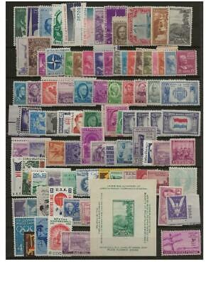 Crazy deals! 93 old US stamps, MINT hinged or DG  PENNY START