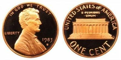 1983 S GEM BU PROOF Lincoln MemoriaL BRILLIANT UNCIRCULATED PENNY US COIN PF