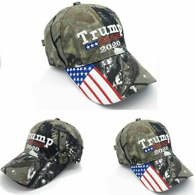 Donald Trump 2020 Make America Great Camouflage USA Flag Baseball Cap Hat NEW
