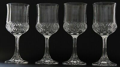 Crystal Wine/Water Glasses Goblets Set of 4