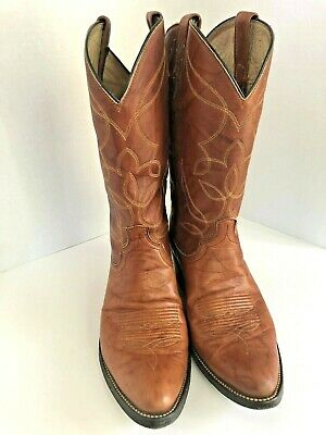 b8635c98587 NEW VINTAGE DAN POST 10.5 D Handcrafted Leather Cowboy Boots early ...
