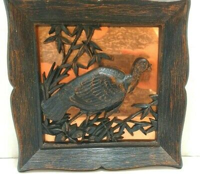 "Vintage 3D Coppercraft Guild Quail Copper Wall Plaque 9"" x 9"""