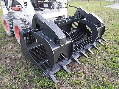 """Bobcat Skid Steer Attachment - 80"""" Rock Bucket Grapple with Teeth - Ship $199"""