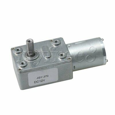 55rpm Worm Gear Box Motor High Torque Speed Reduction Double Shaft JGY370 DC12V