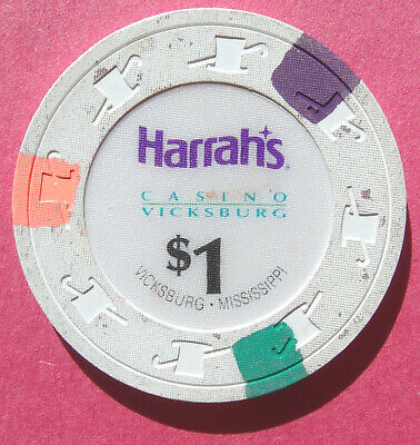 Obsolete Harrah's Casino Of Vicksburg, Mississippi ~ $1 Chip