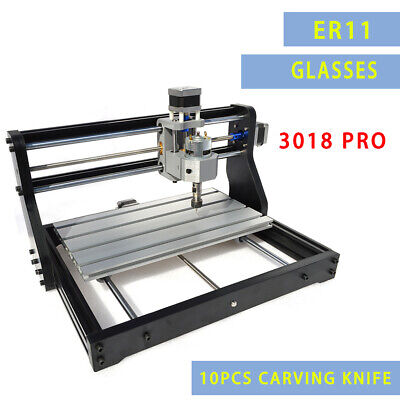 CNC 3018 Router Kit W/ Laser Engraver Injection 3Axis 2IN1 Wood Carving GRBL New