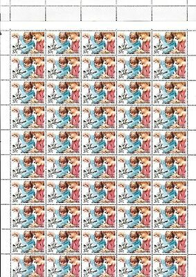 Full sheet of 37 cent  Australian stamps : Aussie kids. Mint Never Hinged