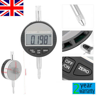 Digital Dial Indicator Gauge DTI 0.01mm/.0005'' Test Range 0-12.7mm/0.5'' Clock