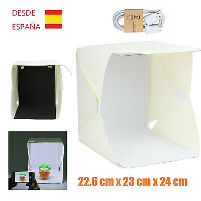 MINI Estudio fotográfico portátil plegable LED USB Cubo Luz Led Plegable