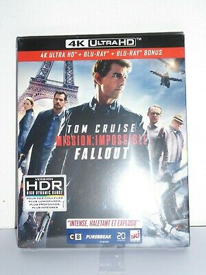 Blu-ray 4K Ultra HD Mission Impossible FALLOUT - NEUF