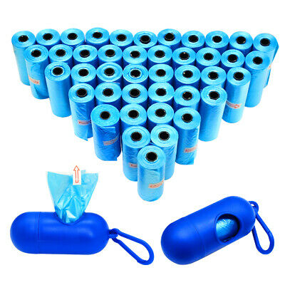 12/42 Rolls Dog Waste Poo Bags Rolls with Waste Bag Holder Dispenser Refill Bags