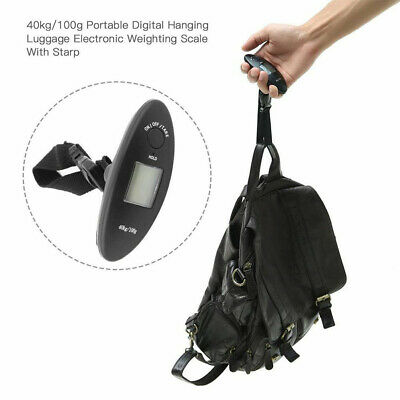 90lb Portable Electronic Digital Luggage Scale in Black 80% OFF TODAY