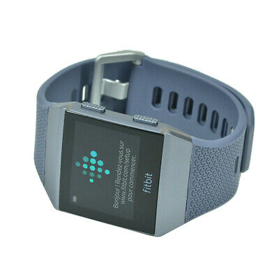 NEW Fitbit Ionic Smartwatch Activity Tracker Charcoal/Smoke Gray (S & L Band)
