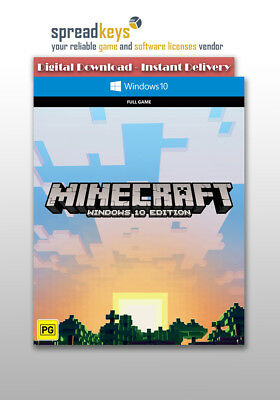 Minecraft: Windows 10 Edition [PC / ACTIVATION KEY / INSTANT DELIVERY]