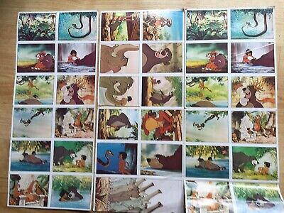 36 Vintage Panini Disney Jungle Book Stickers 1980's