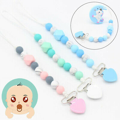 Pacifier Clips Pacifier Teething Baby Teether Chain Clip Bead Dummy Holders Toys