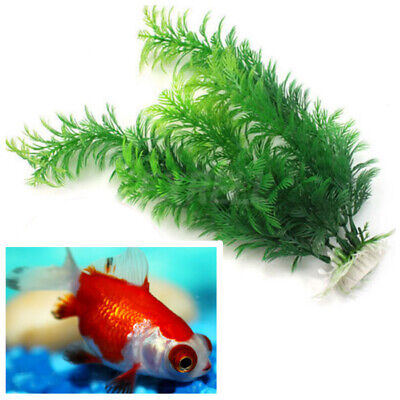 Green Artificial Plastic Water Grass Plant Ornament Decor For Fish Tank Aquarium