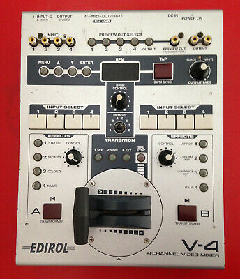 Edirol V-4 Channel Video Mixer - NOT WORKING PROPERLY - GOOD FOR PARTS