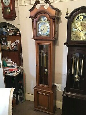 A Fine German Westminster Chime Grandfather Clock