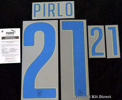 Italy Pirlo 21 2014 World Cup Shirt Name/Number Set Kit Away