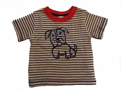 NWT Boy's Gymboree dog short sleeve striped shirt ~ 6-12 months FREE SHIPPING!