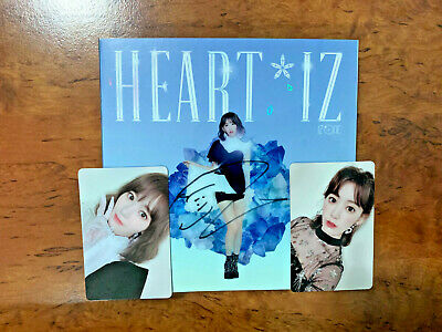 IZ*ONE IZONE SAPPHIRE MWAVE Signed Album [HEART*IZ] with Photocard