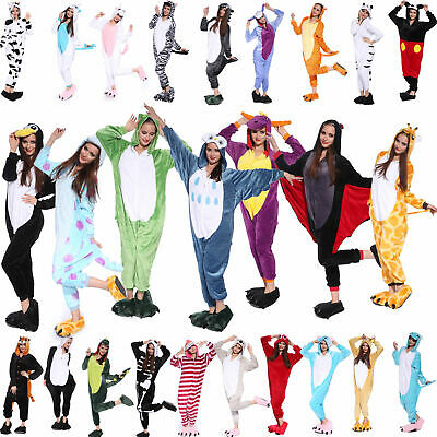 Adult Fleece Unisex Kigurumi Animal Pajamas Cosplay Costume Sleepwear bodysuit