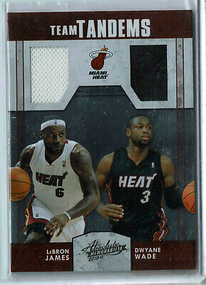 2010-11 Absolute Memorabilia Team Tandems Materials #1 LeBron James/Dwyane Wade