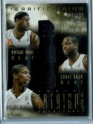 2013-14 Intrigue Terrific Trios Chris Bosh/Dwyane Wade/LeBron James #176/199