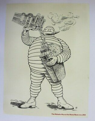 AFFICHE ANCIENNE BIB BIBBENDUM PNEU MICHELIN MAN LONDON HOUSE CONRAN car auto