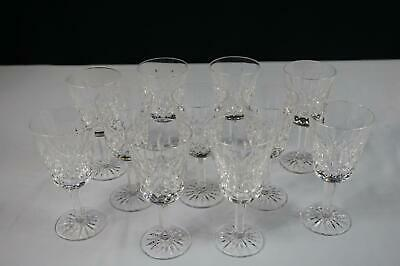 "Waterford Crystal Lismore White Wine Glasses - 5-1/2"" - Set Of 11"