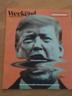 DONALD TRUMP DEEPFAKE PETRA KVITOVA GUARDIAN Weekend Uk - 22 June 2019