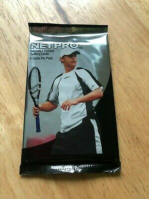 Sealed Packet of Netpro Premier Edition Tennis Trading Cards (5 cards) 2003 Andy
