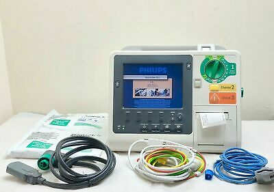 Philips Heartstart Xl+ Defib Aed, New Sealed 02/2022 Pads 5 Leads Ecg Cable 2012