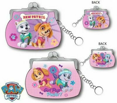 Official Girls Paw Patrol Purse With Chain Childrens Kids Skye Everest Clip