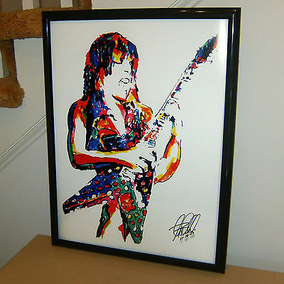 Randy Rhoads Ozzy Guitar Metal Hard Rock Music Poster Print Wall Art 18x24