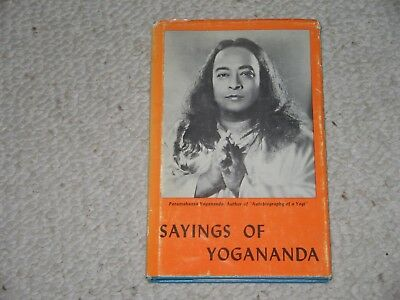 Sayings of Yoga RARE 1972 3rd Print with Jacket by Self Realization Fellowship