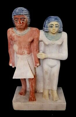 Massive Egyptian Antique Sculpture Amarna Art Hieroglyph Stone Carved Statue
