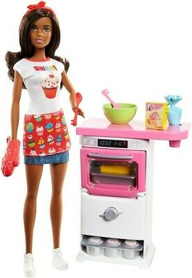 Barbie Bakery Chef Nikki Doll Playset Doll Oven Cupcakes