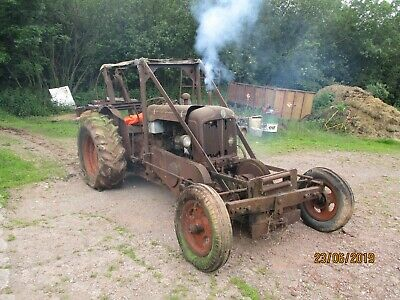 Vintage 1955 Fordson Major Tractor with, rare front mounted, Auto-Mower Winch