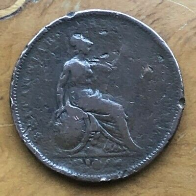 1826 King George IV One Penny 1d Coin