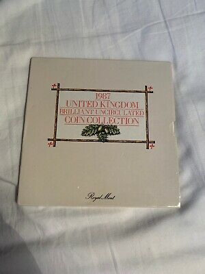 1987 United Kingdom Brilliant Uncirculated Coin Collection Royal Mint £1 etc