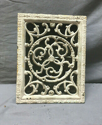 Antique 6x8 White Small Decorative Wall Ceiling Heat Grate Vtg Grill 408-19L