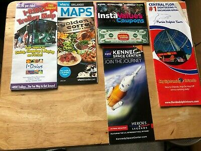 Orlando Florida Dolphin Tours Kennedy Space Center Iride Leaflets & Coupon Books